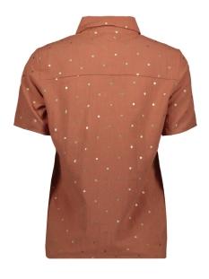 pcneya ss shirt kac fc 17102884 pieces blouse copper brown/foil
