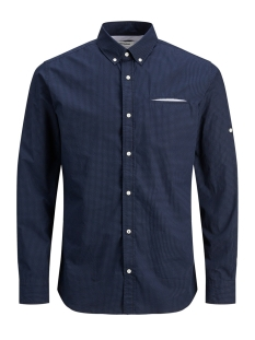 Jack & Jones Overhemd JJETAPE DETAIL SHIRT L/S S20 STS 12166546 Navy Blazer/SLIM FIT