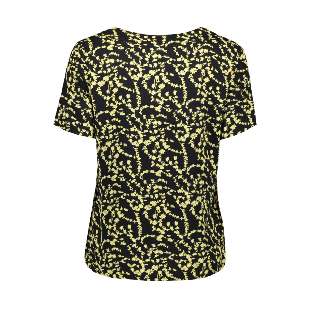 pcnadin ss top 17101854 pieces t-shirt black/silhouette flower