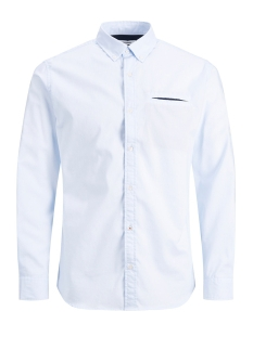 Jack & Jones Overhemd JJETAPE DETAIL SHIRT L/S S20 STS 12166546 Cashmere Blue/SLIM FIT