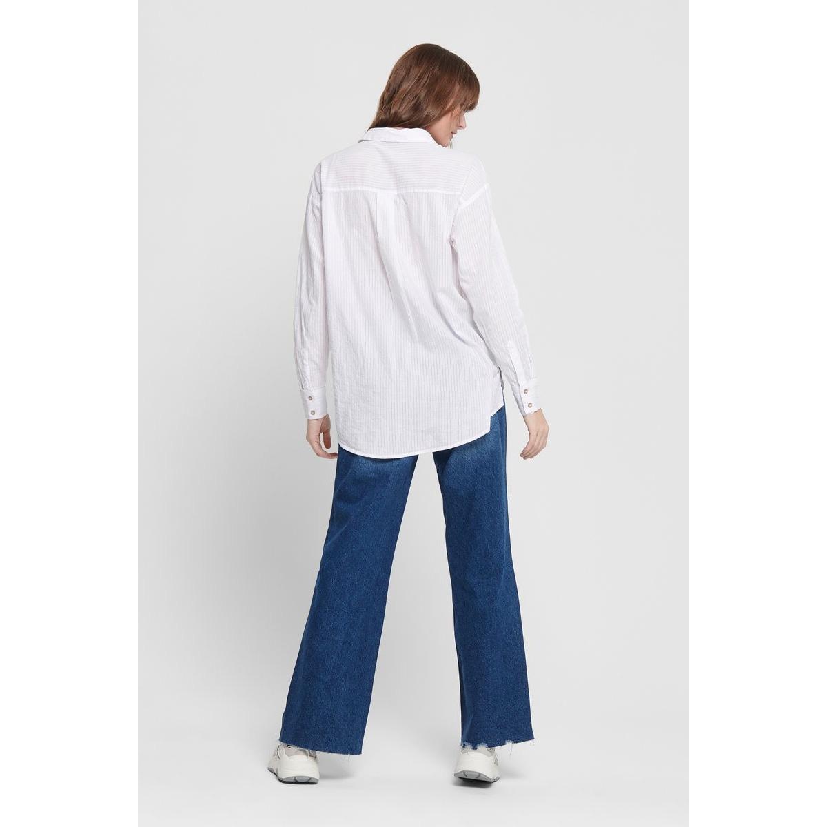 onlfcarry life l/s shirt wvn 15173492 only blouse white