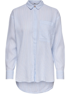 onlfcarry life l/s shirt wvn 15173492 only blouse cloud dancer/clouddance