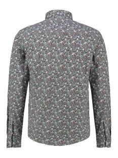shirt aop stretch mc13 0100 05 haze & finn overhemd indigo floral