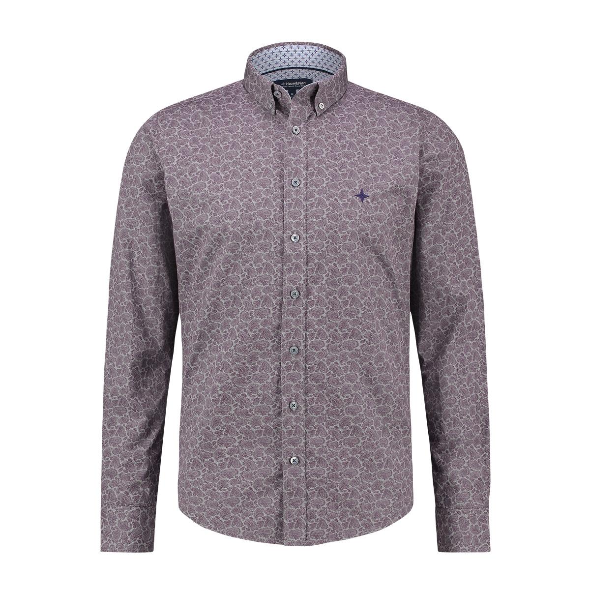 shirt aop regular mc13 0110 03 haze & finn overhemd tulpwood pailsley