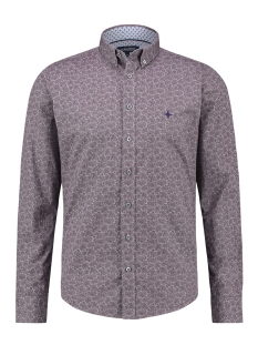 Haze & Finn Overhemd SHIRT AOP REGULAR MC13 0110 03 TULPWOOD PAILSLEY