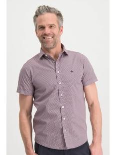 shirt aop stretch ss mc13 0105 07 haze & finn overhemd polka rosewood