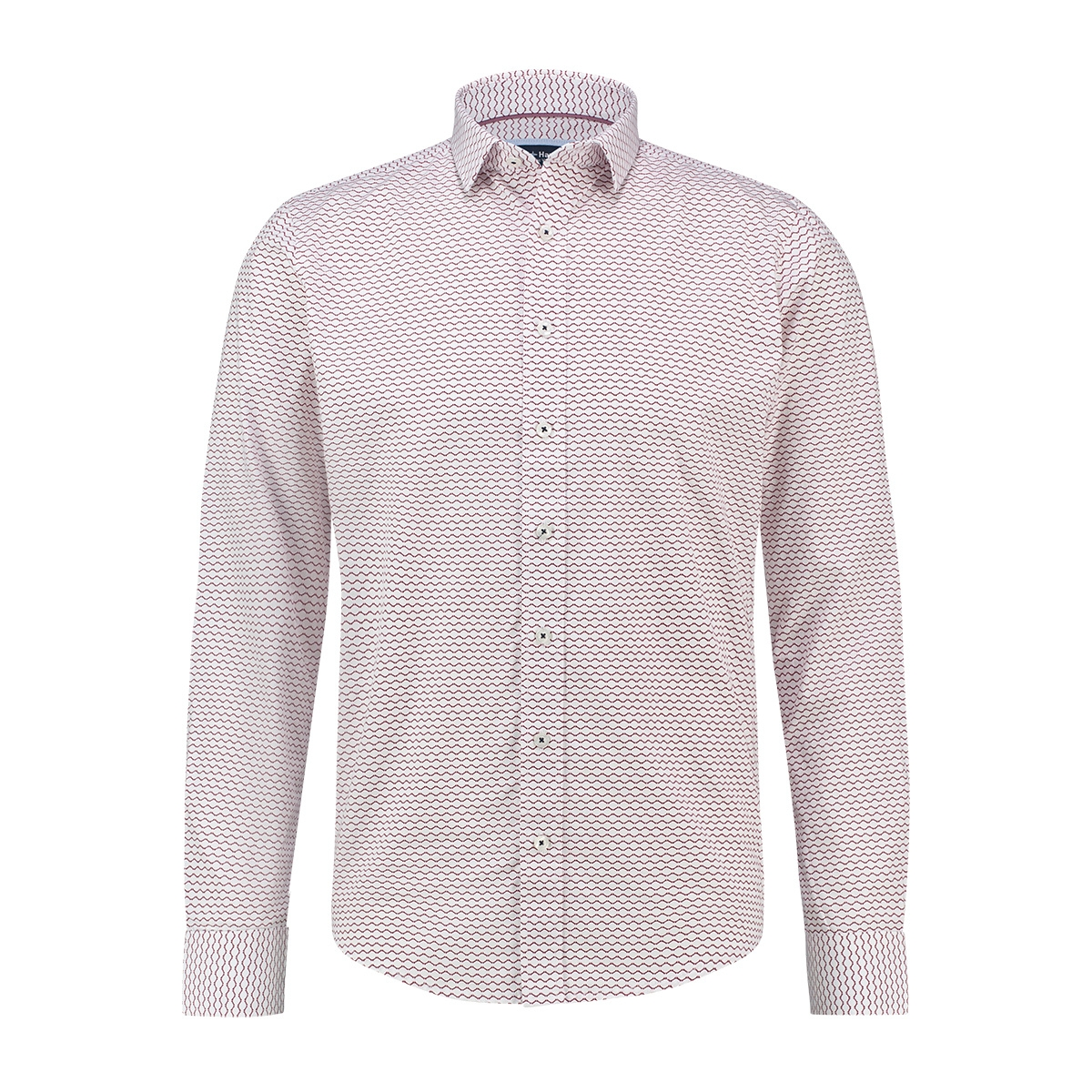 shirt aop stretch mc13 0100 08 haze & finn overhemd red fence