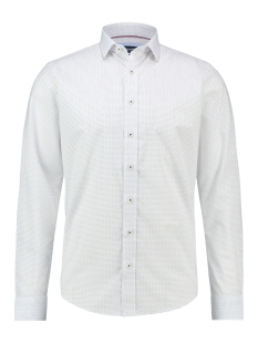 Haze & Finn Overhemd SHIRT AOP STRETCH MC13 0100 06 WHITE POINTS