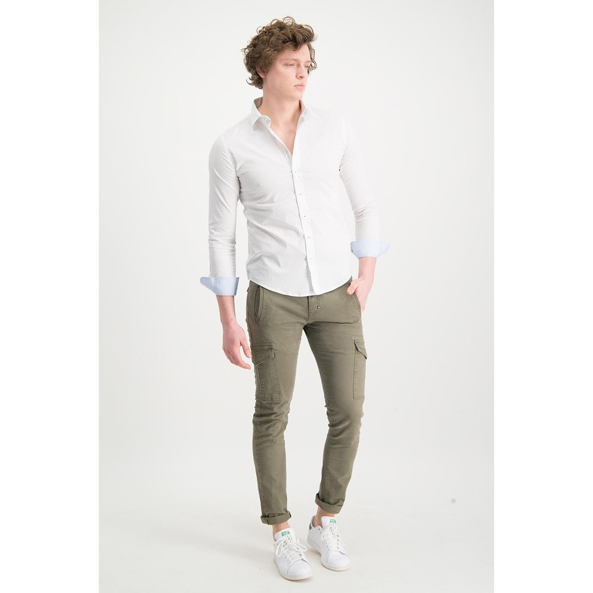 shirt aop stretch mc13 0100 06 haze & finn overhemd white points