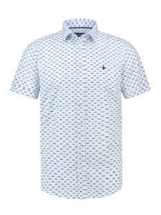 Haze & Finn Overhemd SHIRT AOP STRETCH SS MC13 0105 03 BEETLE