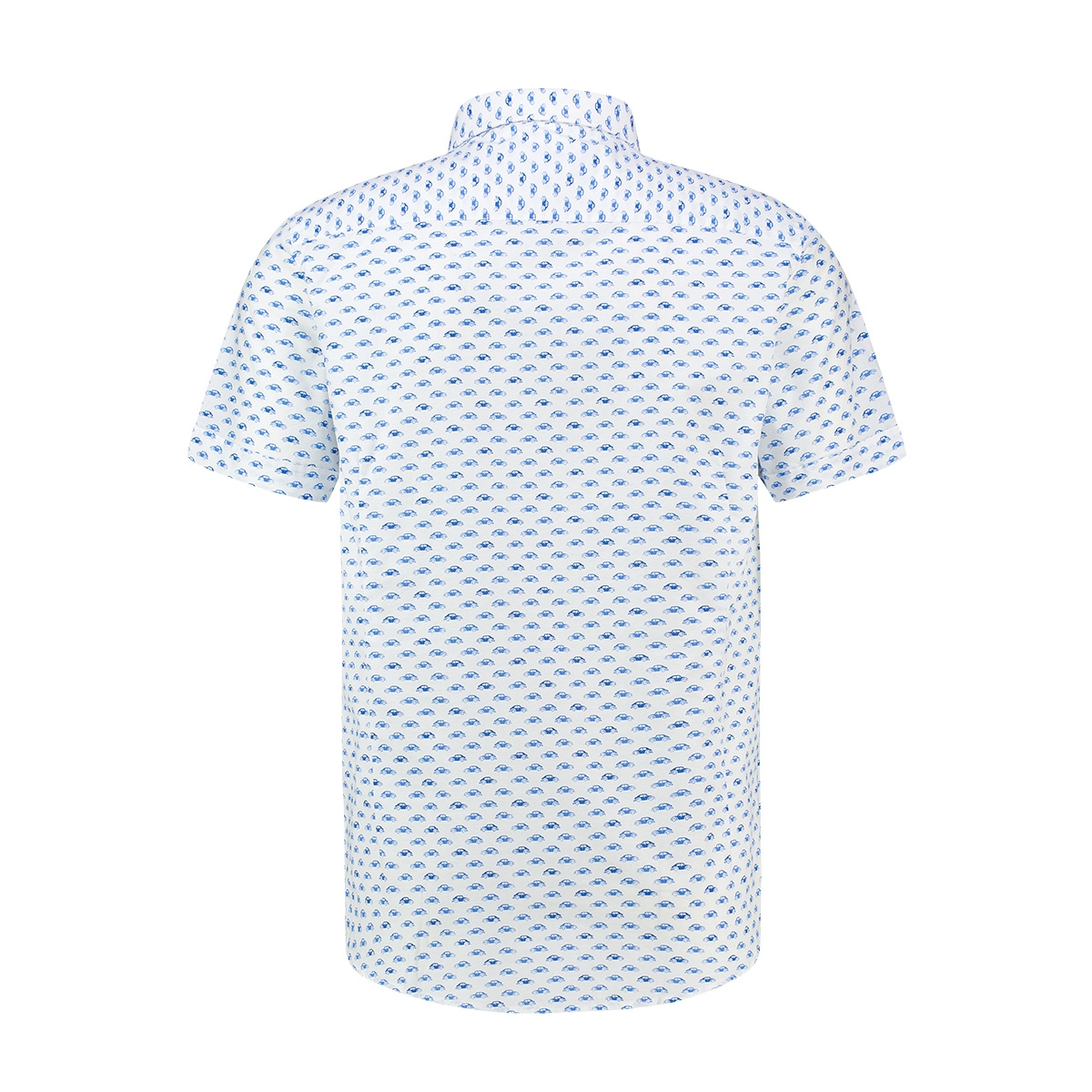 shirt aop stretch ss mc13 0105 03 haze & finn overhemd beetle