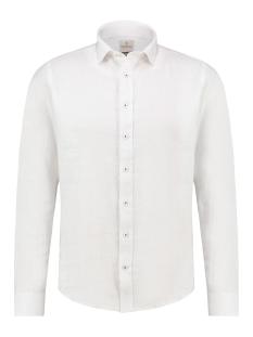 Haze & Finn Overhemd SHIRT LINEN MA13 0107 WHITE