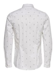 onsstefano ls stretch ditsy xslim s 22015252 only & sons overhemd white