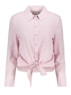 onllecey ls stripe knot dnm shirt 15195910 only blouse cloud dancer/fragant lines