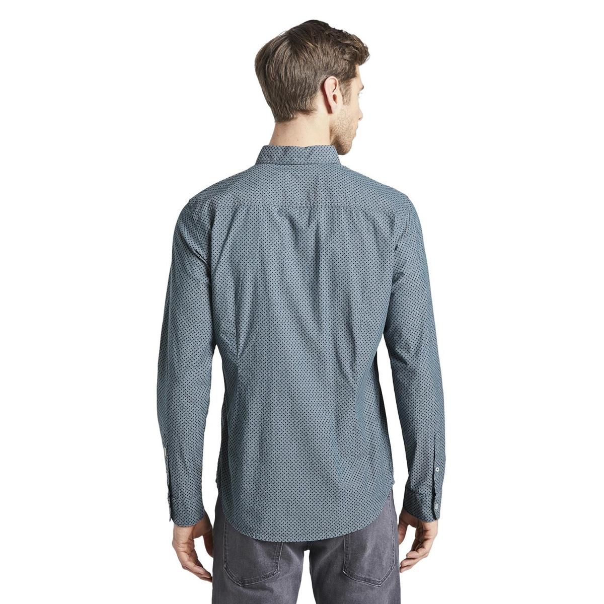 overhemd met print 1017360xx10 tom tailor overhemd 22078