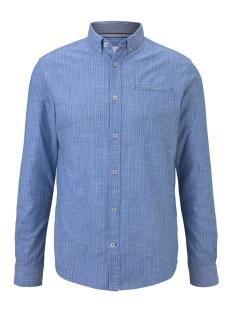 geruit overhemd met paspelzak 1017357xx10 tom tailor overhemd 22089