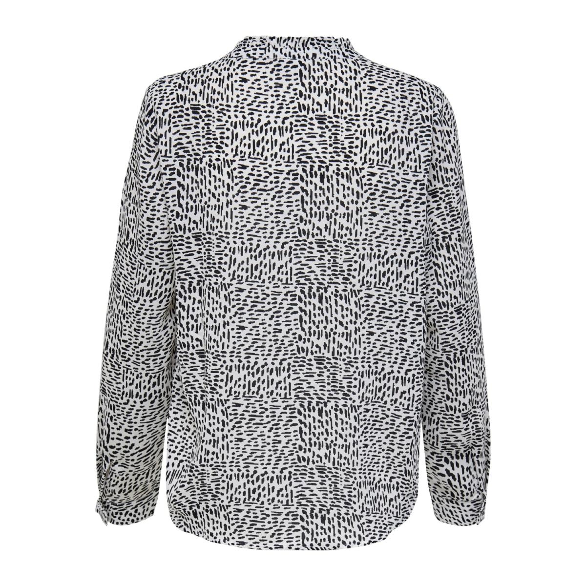 jdymonica l/s placket shirt wvn 15208748 jacqueline de yong blouse cloud dancer/black spla