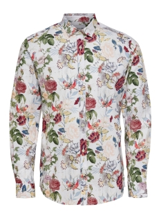 Only & Sons Overhemd onsSTEFANO LS STRETCH FLORAL SLIM S 22015249 White