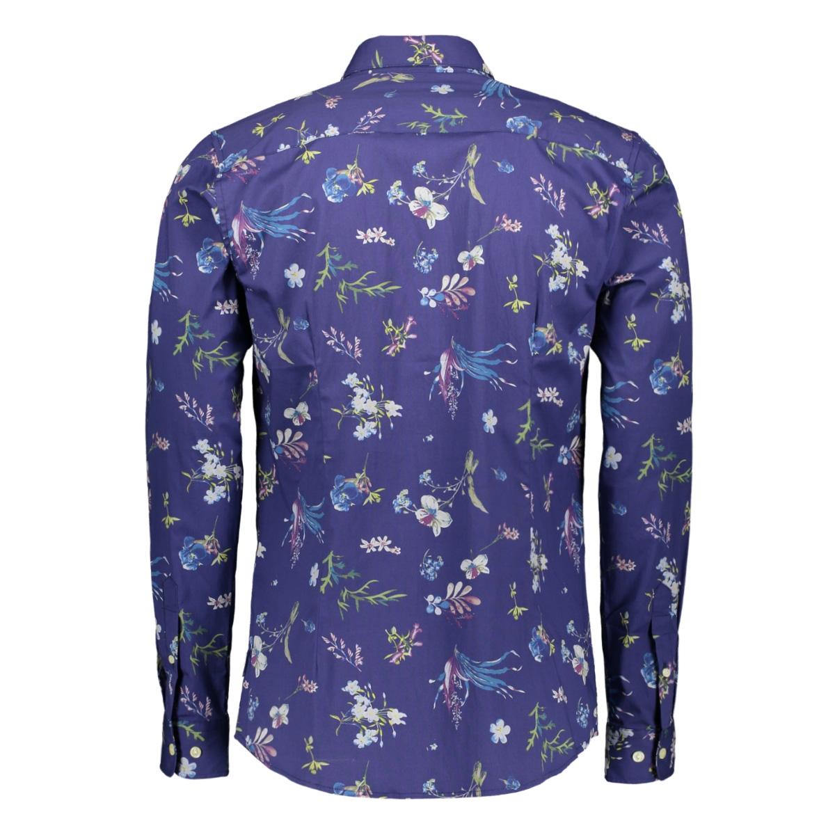 onsstefano ls stretch floral slim s 22015249 only & sons overhemd dress blues