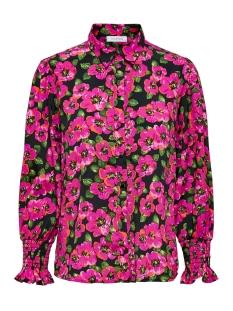 Only Blouse ONLBELLA L/S SMOCK CUFF SHIRT WVN 15207362 Black/PINK FLOWER