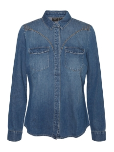 Vero Moda Blouse VMMARIA LS SLIM STUD DENIM SHIRT LC 10228653 Medium Blue Denim