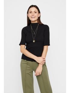 pcnukisa 2/4 mock neck top bc 17101836 pieces t-shirt black