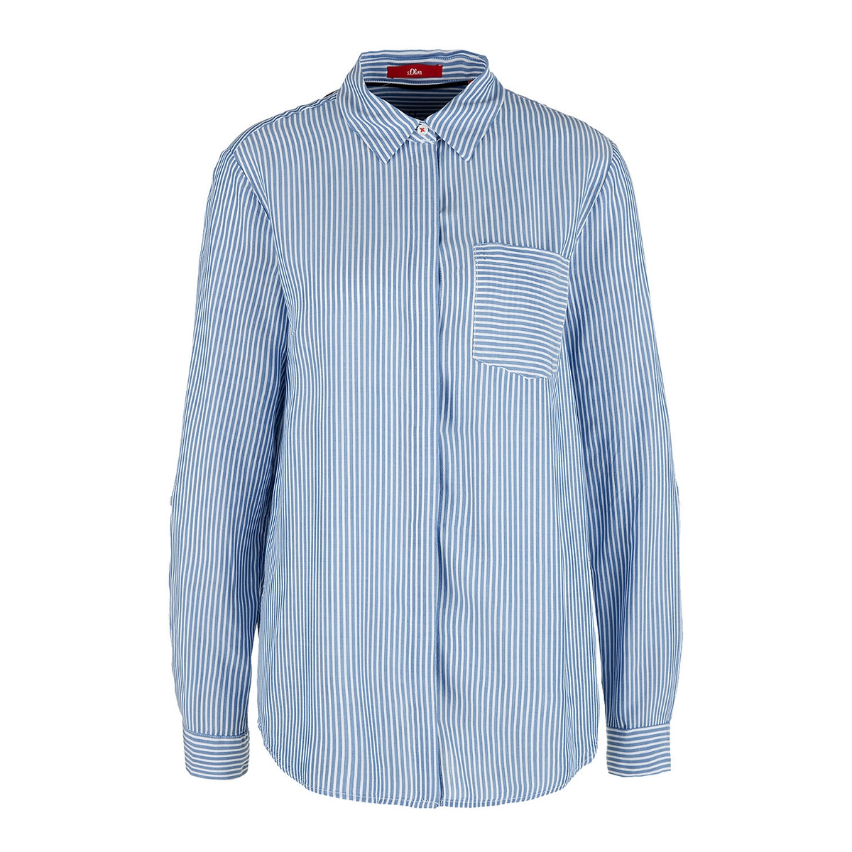 blouse met borstzak 04899112876 s.oliver blouse 53g8
