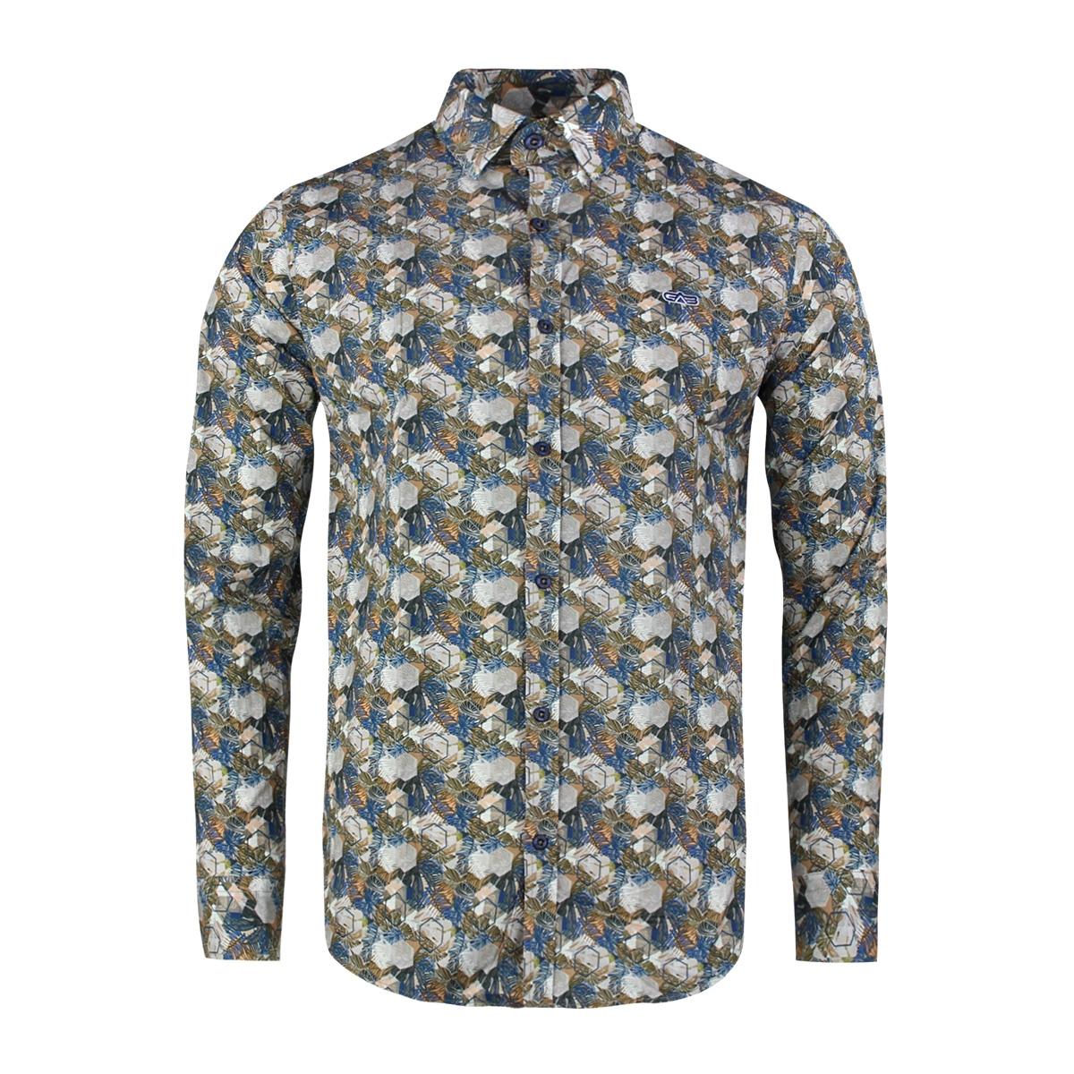 overhemden 33863 gabbiano overhemd navy