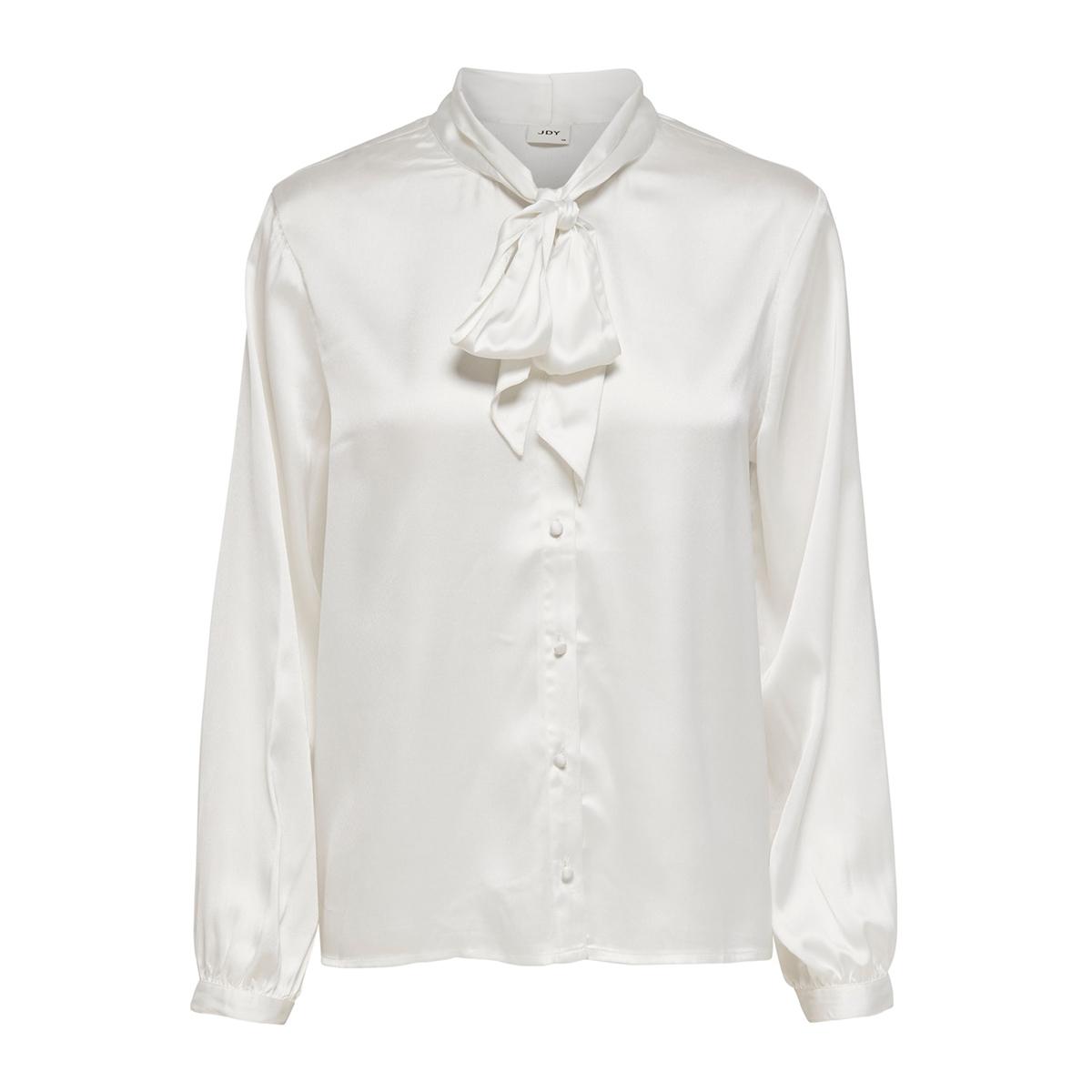 jdyfiffi l/s bow shirt wvn exp 15195614 jacqueline de yong blouse cloud dancer