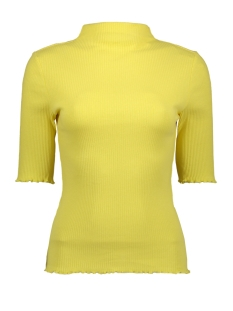 Pieces T-shirt PCNUKISA 2/4 MOCK NECK TOP BC 17101836 Lemon Drop