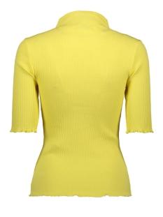 pcnukisa 2/4 mock neck top bc 17101836 pieces t-shirt lemon drop