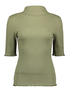 Pieces T-shirt PCNUKISA 2/4 MOCK NECK TOP BC 17101836 Deep Lichen Green