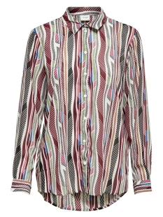 Jacqueline de Yong Blouse JDYSOLIS L/S SHIRT WVN 15206758 Cloud Dancer/MULTICOLOR