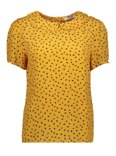 Pieces Blouse PCNIMMA SS COLLAR TOP 17101896 Artisans Gold/Spot Flowe