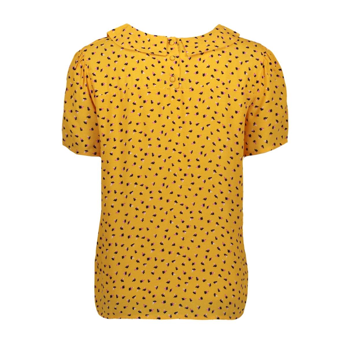 pcnimma ss collar top 17101896 pieces blouse artisans gold/spot flowe