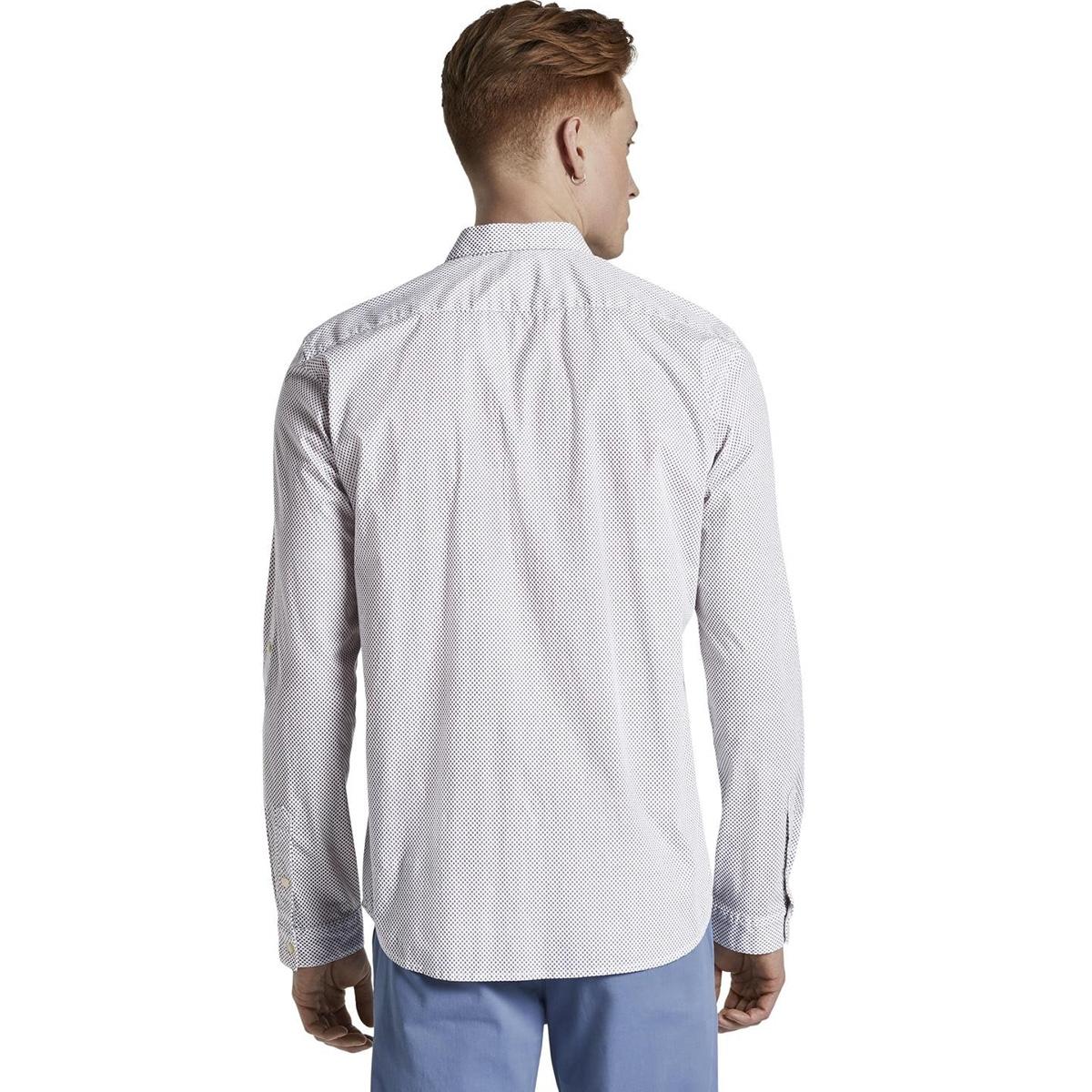 overhemd met opdruk 1018799xx12 tom tailor overhemd 22857