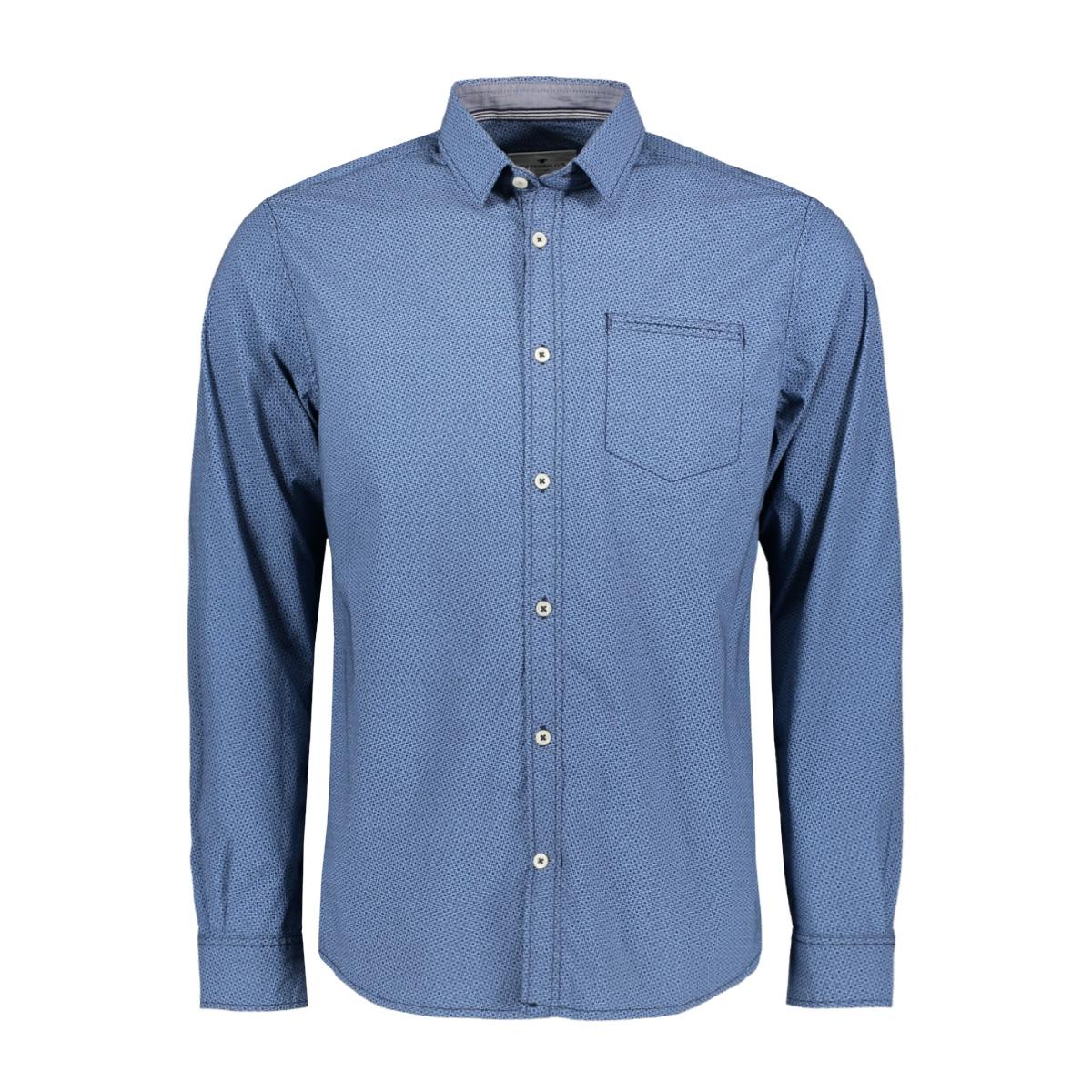 overhemd met all over print 1020645xx10 tom tailor overhemd 22281