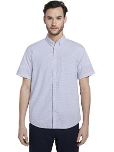 shirt met korte mouwen en strepen 1017787 tom tailor overhemd 22282