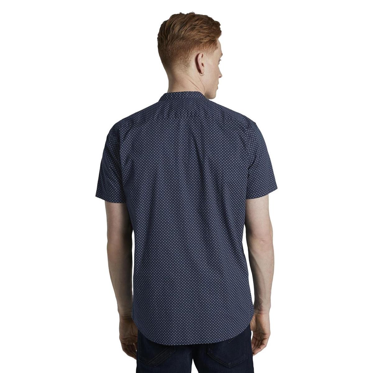 overhemd met mao kraag 1018829xx12 tom tailor overhemd 17632