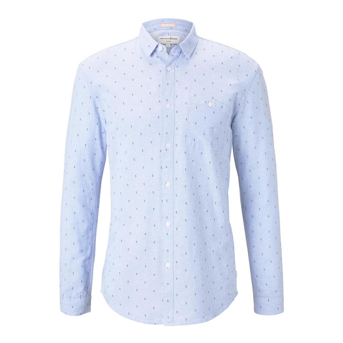 overhemd met print 1018800xx12 tom tailor overhemd 22910
