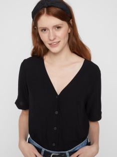 Pieces Blouse PCCECILIE SS TOP NOOS BC 17100686 Black