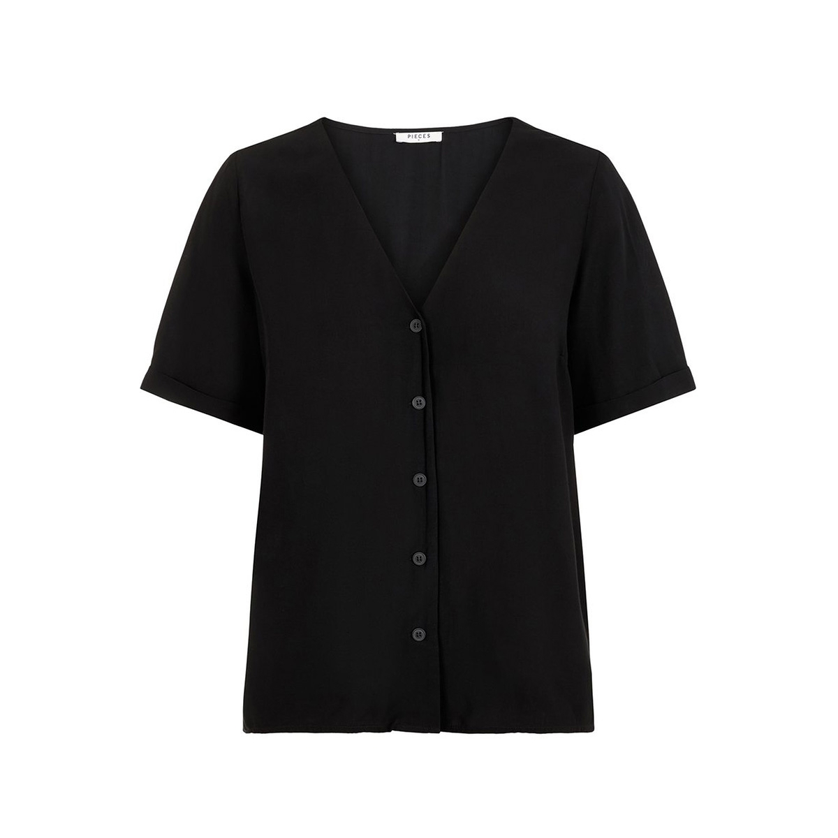 pccecilie ss top noos bc 17100686 pieces blouse black