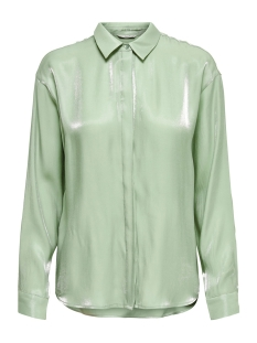 Only Blouse ONLLIVA L/S LOOSE SHIRT WVN 15197683 Frosty Green