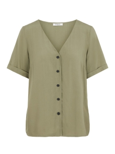 pccecilie ss top noos bc 17100686 pieces blouse deep lichen green