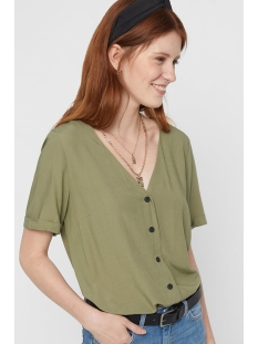 Pieces Blouse PCCECILIE SS TOP NOOS BC 17100686 Deep Lichen Green