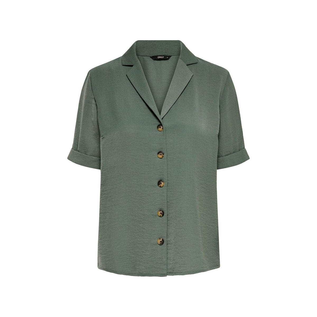 onlsky s/s shirt solid wvn 15181018 only blouse laurel wreath