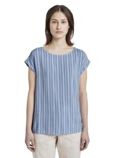 Tom Tailor T-shirt T SHIRT MET PRINT EN UITSPARING 1016490XX71 21371