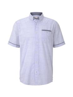 fijn gestreept shirt met korte mouwen 1017783xx10 tom tailor overhemd 19551