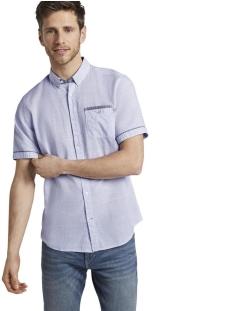 Tom Tailor Overhemd FIJN GESTREEPT SHIRT MET KORTE MOUWEN 1017783XX10 19551