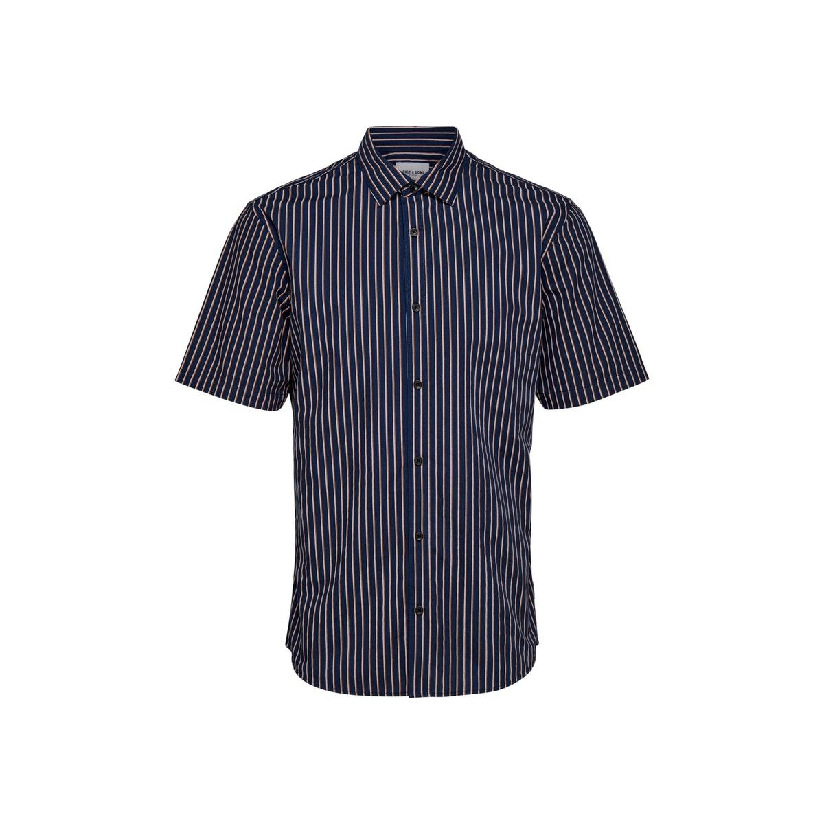onssane ss striped poplin shirt 22015476 only & sons overhemd dress blues